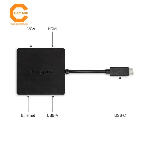 Targus USB-C DisplayPort Alt-Mode Travel Dock (Black)