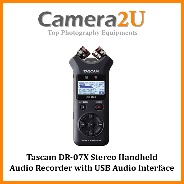Tascam DR-07X Stereo Handheld Digital Audio Recorder