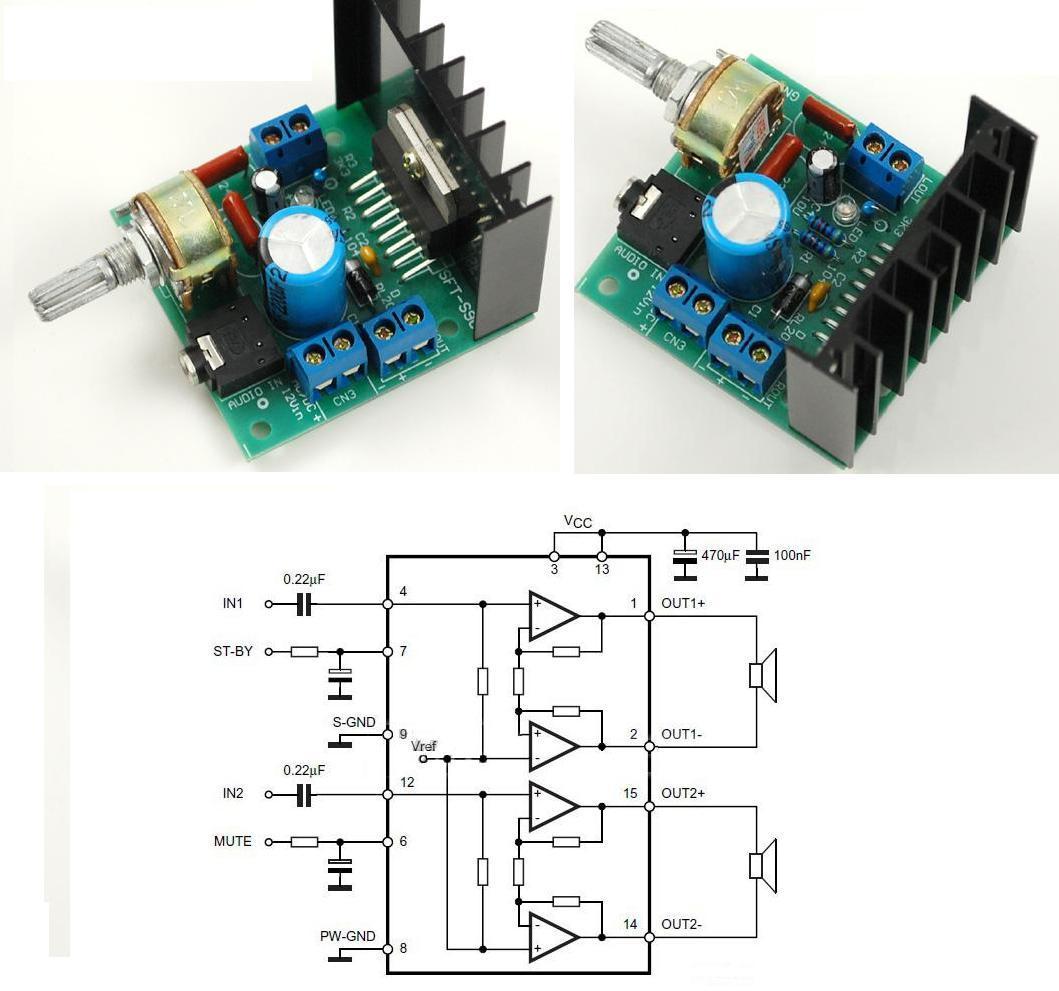 Audio Amplifier Module Rec Sec Sj2038 Mini Hifi 2 X 5w Board W Led Indicator Blue Tda7297 2x15w