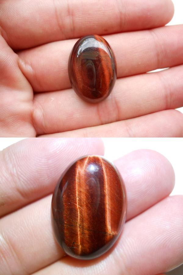 TE022 BATU MATA HARIMAU MERAH Red Tiger Eye