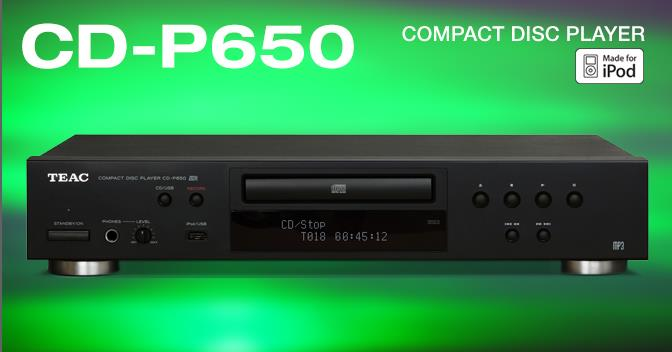 TEAC CD-P650 / CDP650 CD player USB & iPod playback(PM for Best Price)