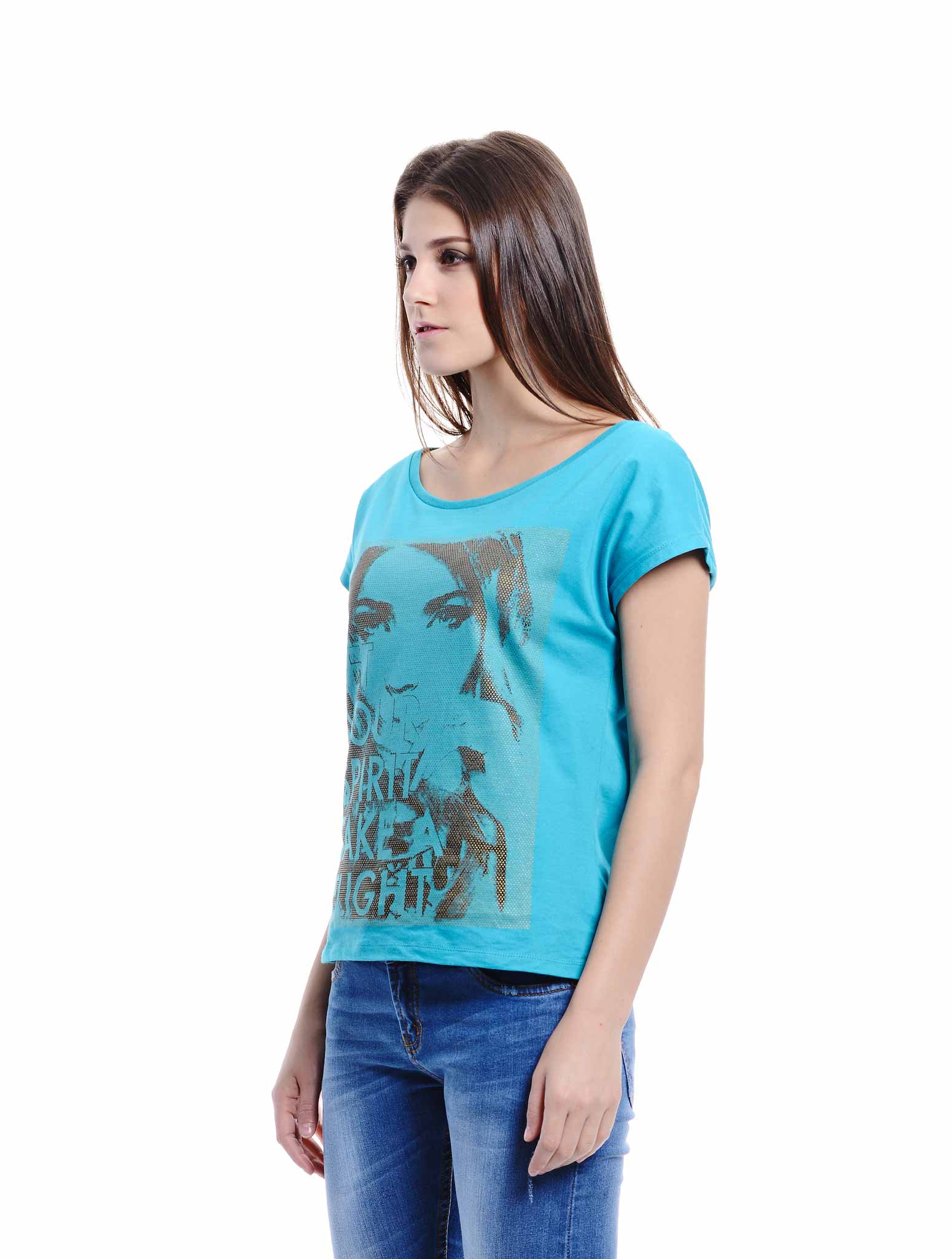 teal short sleeve tee