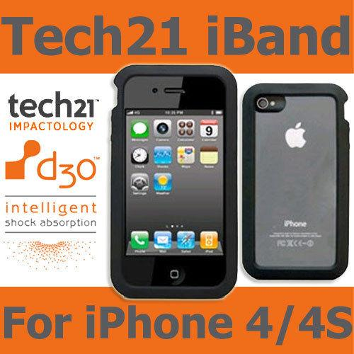 wholesale dealer 05111 e08f6 TECH21 BLACK D30 IMPACT iBAND CASE COVER FOR APPLE iPHONE 4 4S - Ori