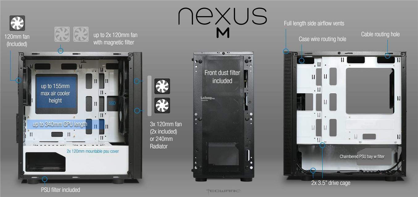 Tecware Nexus M Tg Atx Chassis Bl End 3 2 2020 615 Pm Wiring Diagram Black White