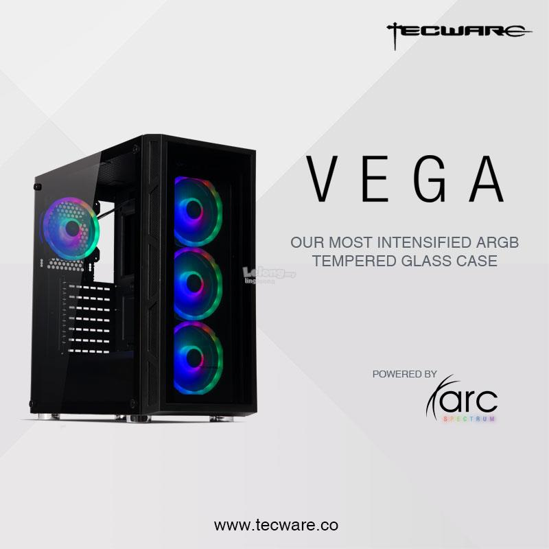 # TECWARE Vega Tempered Glass ARGB Mid Tower Casing #