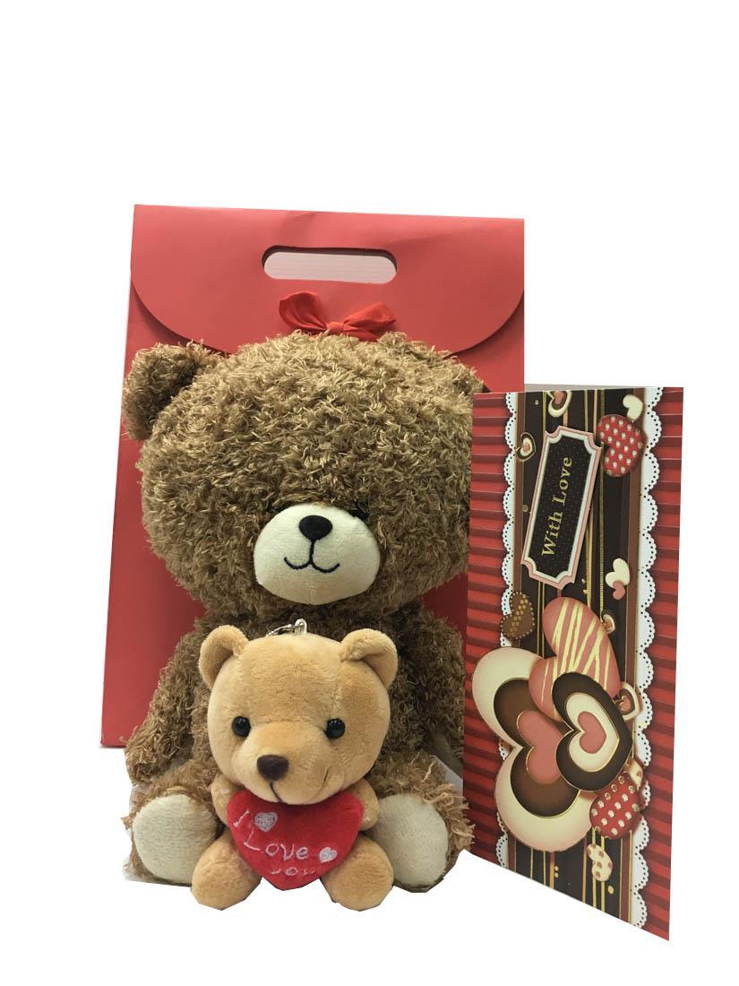 Teddy Bear With Mini Bear Valentine End 2 19 2019 10 59 Pm