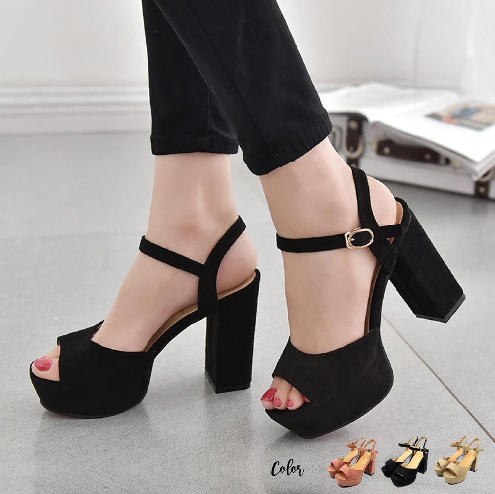 83628327c480 Teddy Women Fabric Velvet Ankle Strap Platform Heels - Black. ‹ ›
