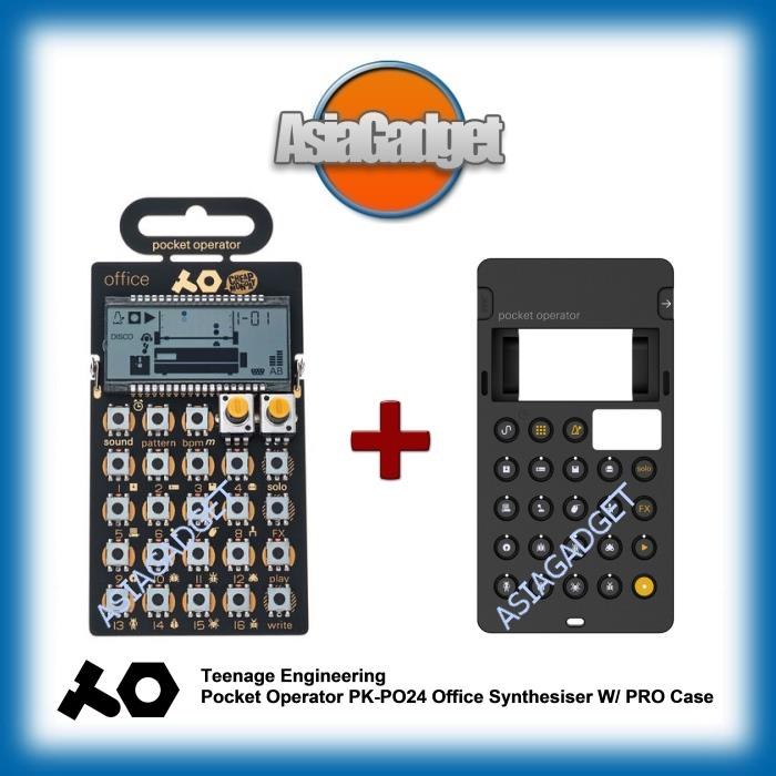 TEENAGE ENGINEERING POCKET OPERATOR PK-PO24 OFFICE W/ PRO CASE