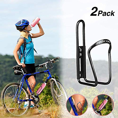 TEENCOO Bike Water Bottle Cage Holder Lightweight Aluminium Adjustable Road Mo