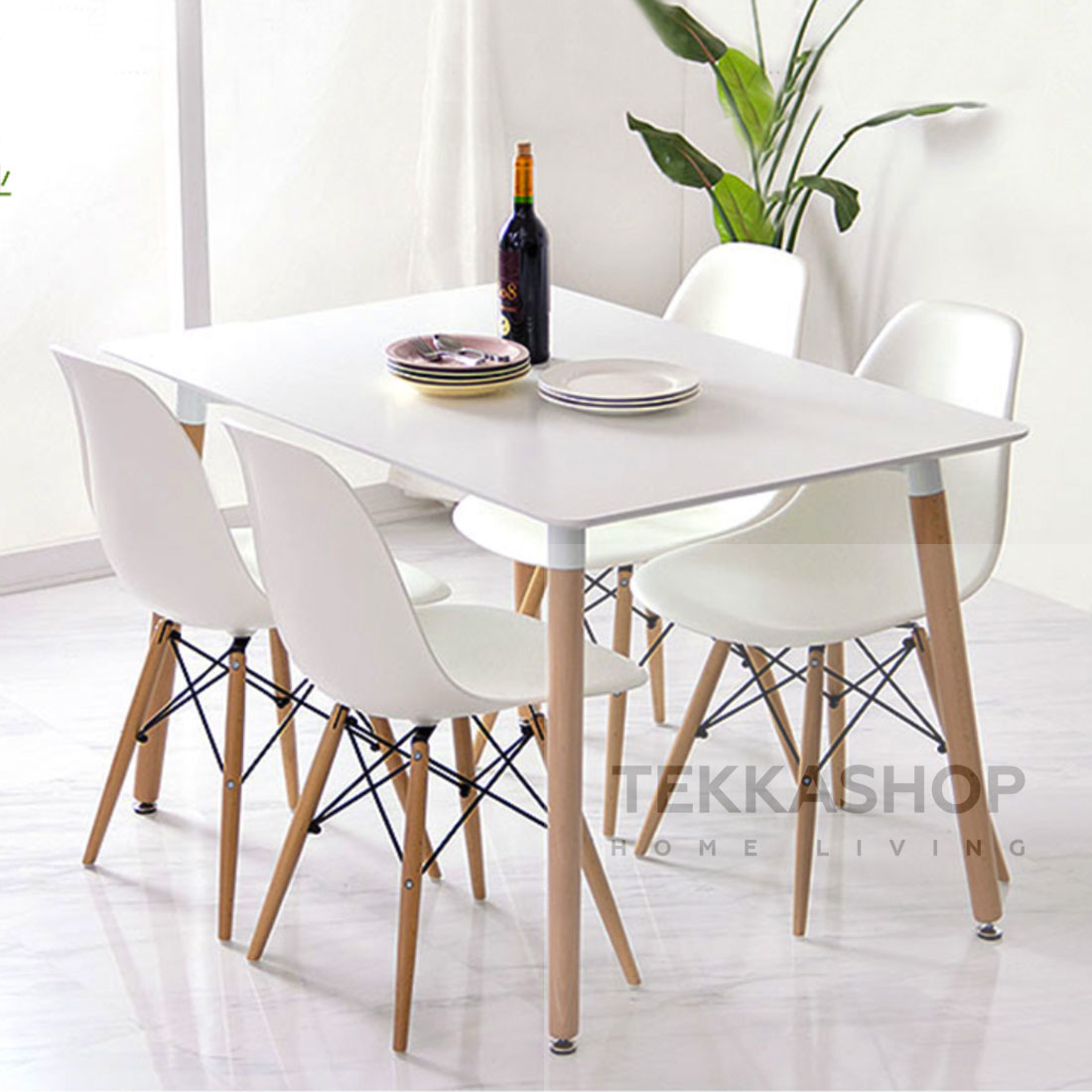 Tekka Sseds4 1 Eames Dining Table 120x80cm Set 4 Chairs