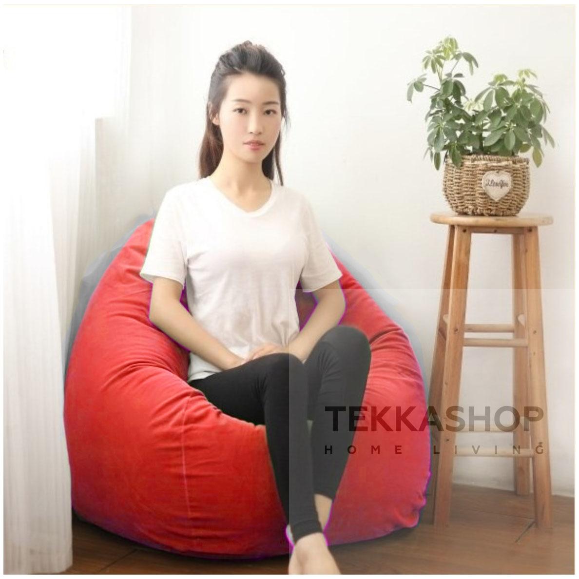 Astounding Tekkkashop Ssfbbr Colourful Fabric 3Kg Bean Bag 110Cm X 70Cm Red Uwap Interior Chair Design Uwaporg