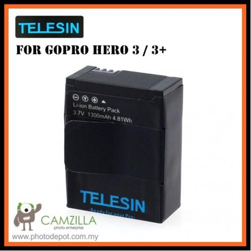TELESIN Replacement 1300mAh Battery for GoPro AHDBT-302 Hero 3 &#65292..
