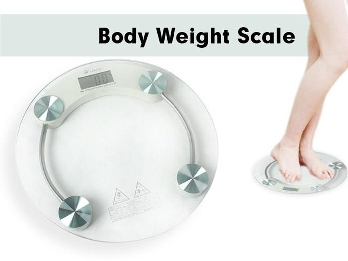 Tempered Gl Digital Round Scale Body Weighting Weight