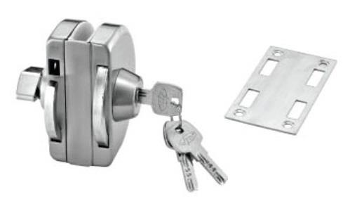 Tempered Glass Door Lock with Internal Knob Lock