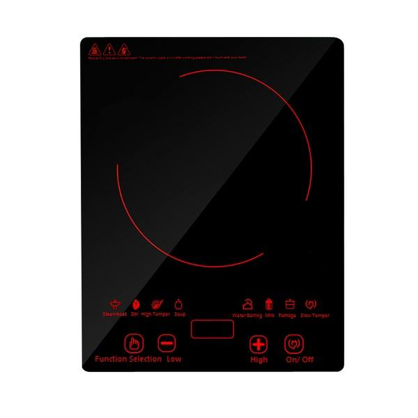 Tempered Glass Tabletop Induction Cooker (Black)