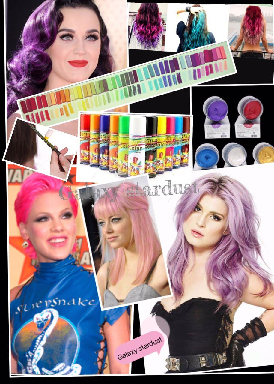 Temporary Pastel Crayon Hair Chalk Hot Huez,Press N Slide,Powdery