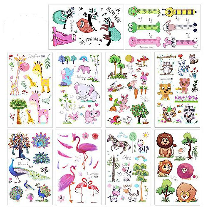 Temporary Sticker Colored Tattoo Sweet Animals Series