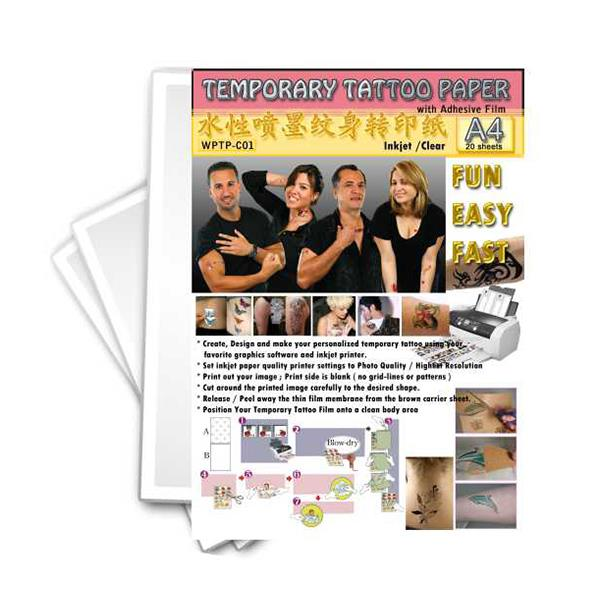 Temporary tattoo transfer paper set end 5 30 2016 12 15 pm for Diy tattoo transfer paper