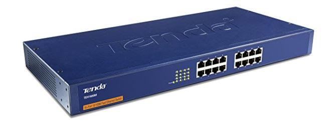TENDA 16 PORT 10/100M ETHERNET RACKMOUNT SWITCH (TEH1600M)