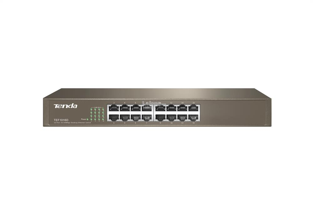 Tenda 16-Port Fast Ethernet Desktop/Rackmount Switch (TEF1016D)