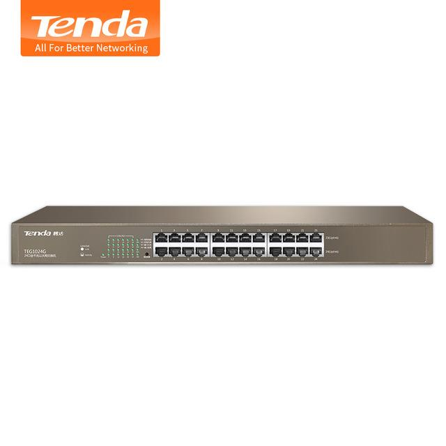 Tenda 24 Port 2 Uplink Smart PoE Switch 370W | TEF1226P