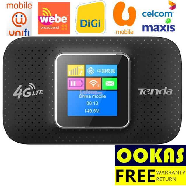 TENDA 4G185 4G LTE Portable Wireless WiFi Modem Router MiFi WEBE UNIFI