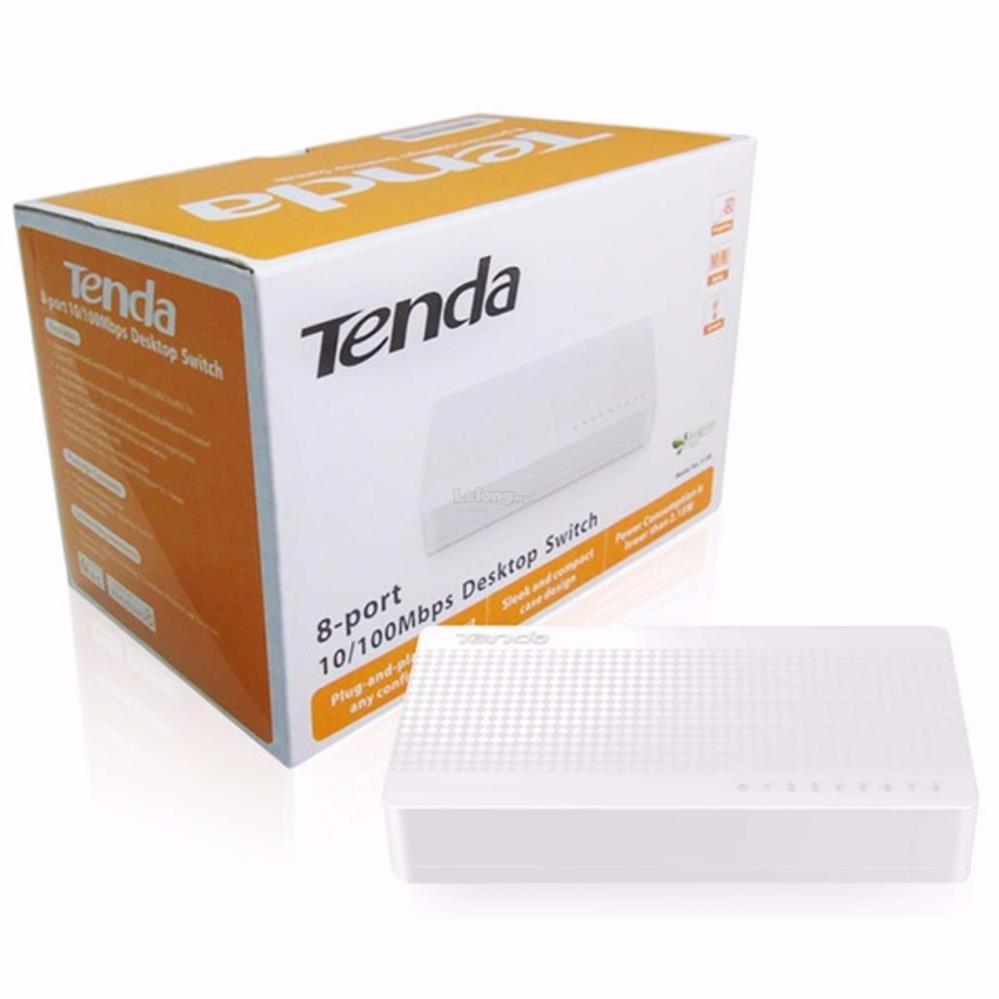 Tenda 8Port 10/100 Fast Ethernet Switch (S108)