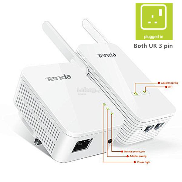 TENDA PH5 Gigabit AV1000 Powerline Wireless Adapter Kit WiFi Extender