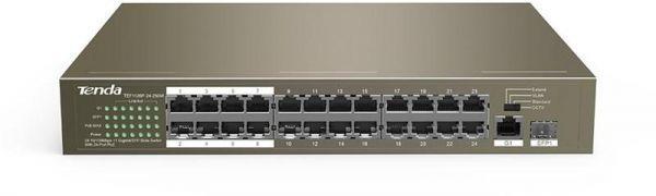 Tenda TEF1226P-24-440W 24-Port 10/100Mbps + 2 Gigabit Web Smart PoE Sw