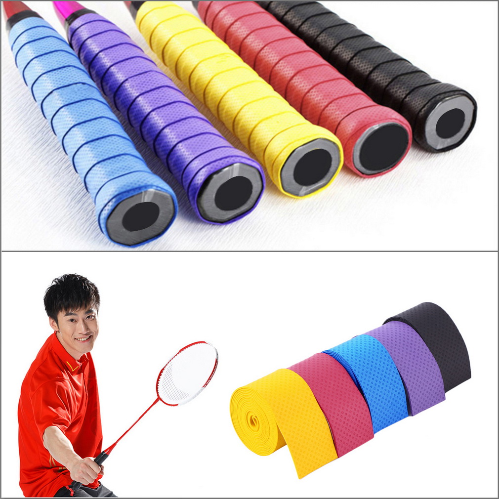 Tennis Badminton Fishing Rods Anti-slip Absorption Racket Handle Tape ..