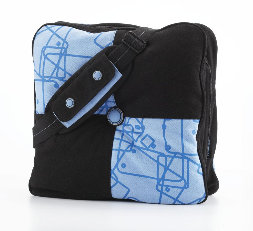 Terminus Pillow Bag (T06-312LAP-12) Blue Small