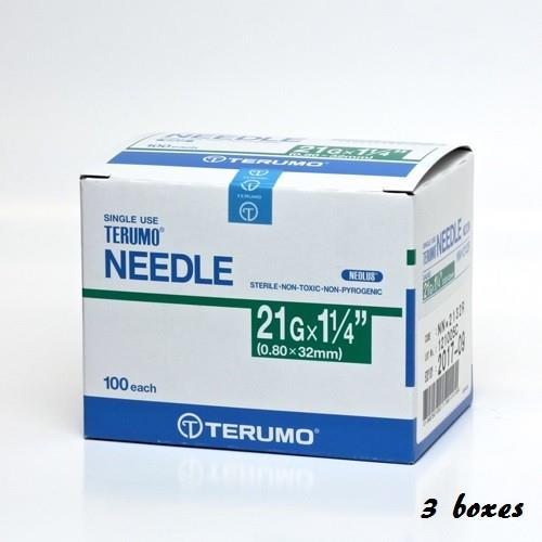 TERUMO DISPOSABLE NEEDLE - 21G X 1 1/4' 100PCSX 5