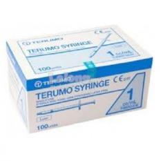 Terumo Syringe Without Needle 1ml Tuberculin (100's) SS+01T (6 Box)