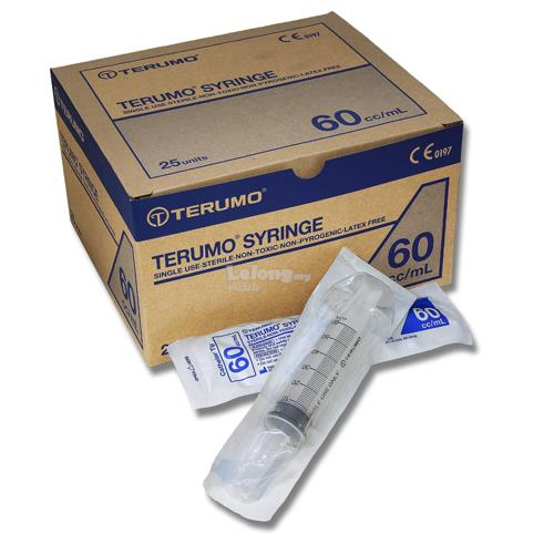 Teruno Syringe without Needle 60ml Catheter with Tip Cover(25pcs/pack)