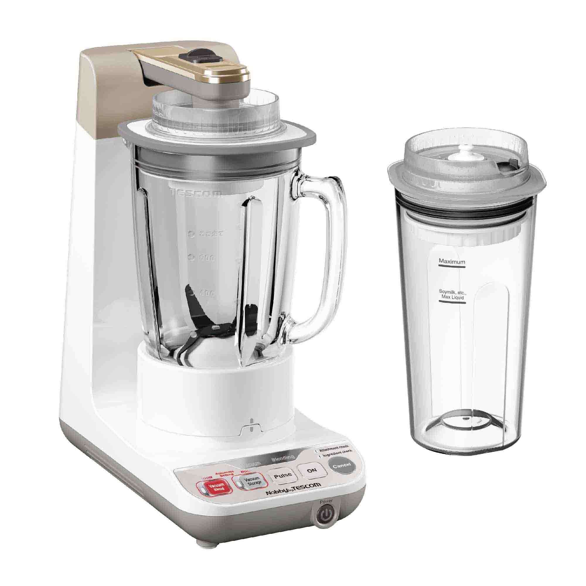 Tescom Vacuum Blender TMV1500SEA (300W) 780ml Glass Jar + Smoothie Con