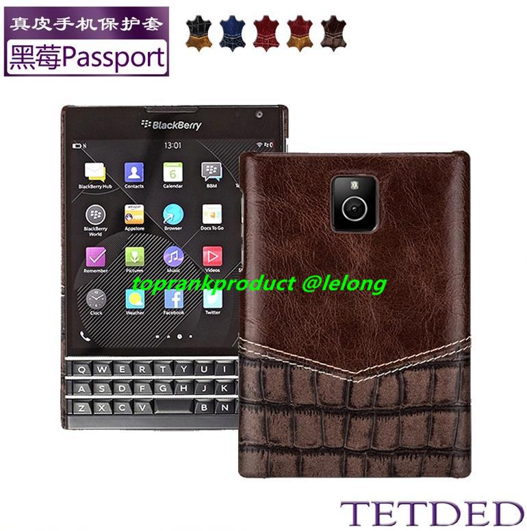 TETDED Cow Leather BlackBerry Passport Q30 Back Case Cover Casing