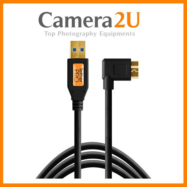 Tether Tools CU61RT15-B USB 3.0 Type-A Male to Micro-USB Right-Angle M