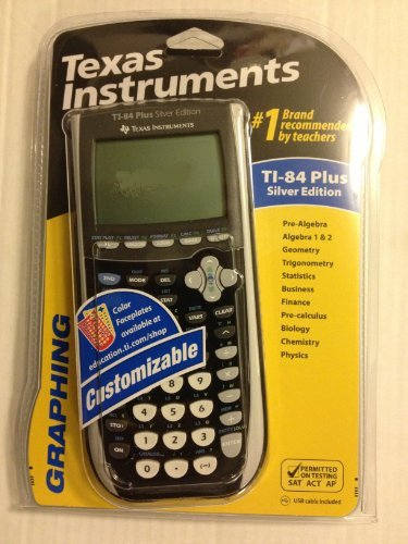 Texas instruments ti 84 plus silve end 12272020 1200 am texas instruments ti 84 plus silver graphing calculator blackdark grey urtaz Choice Image