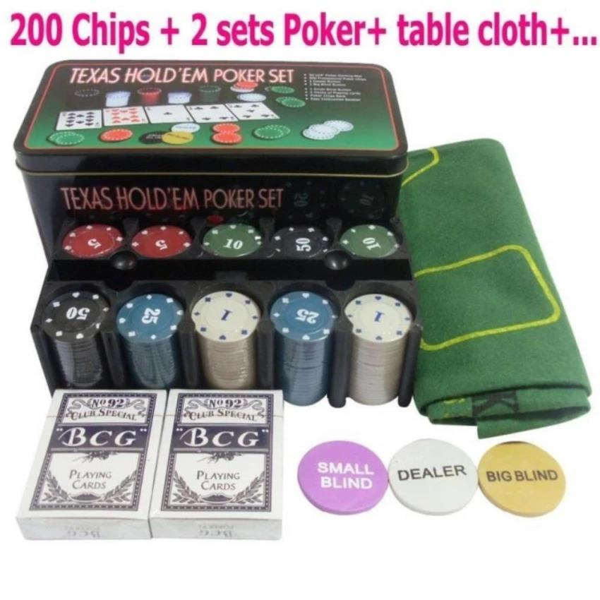 Texas Poker Games Set With 200 Chips