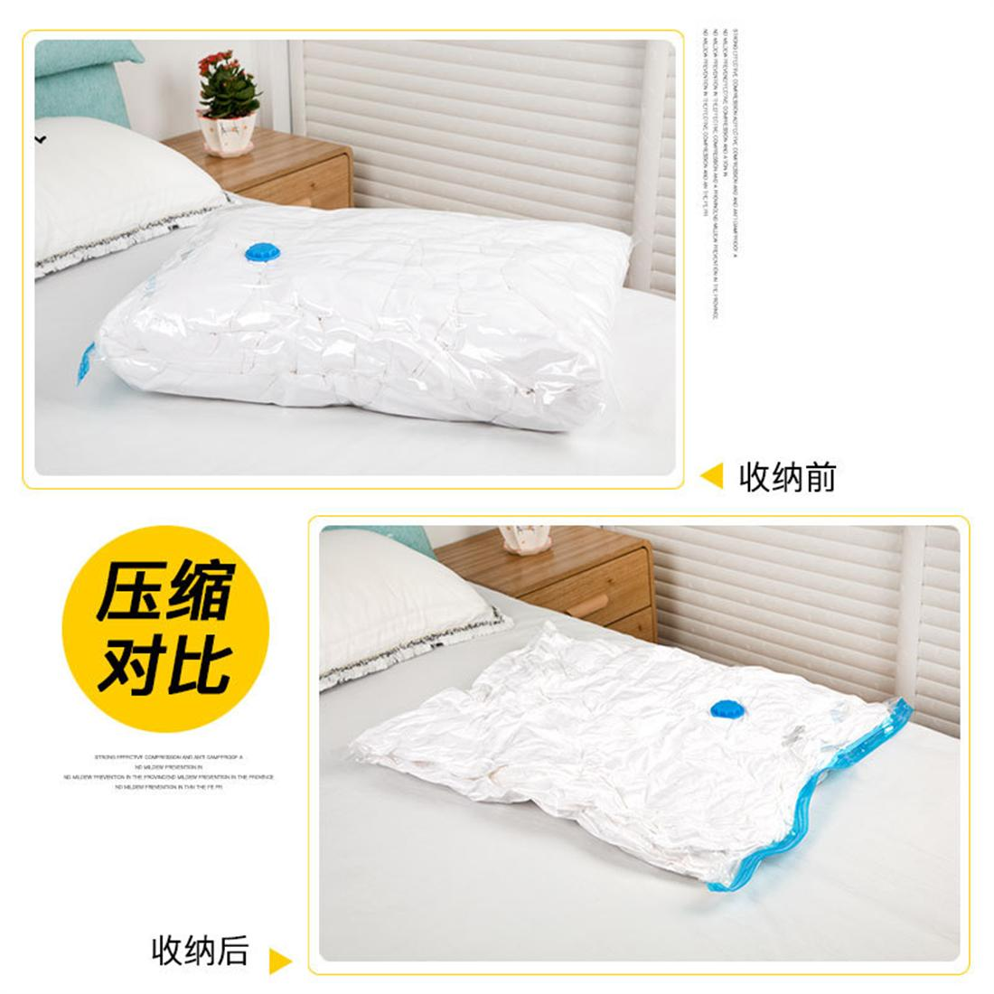 The 7-piece vacuum transparent compression bag is equipped with hand p..