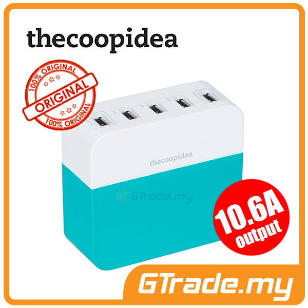 THECOOPIDEA 10.6A 5USB Charger Station BL Oppo Find 7 N1 N3 Huawei