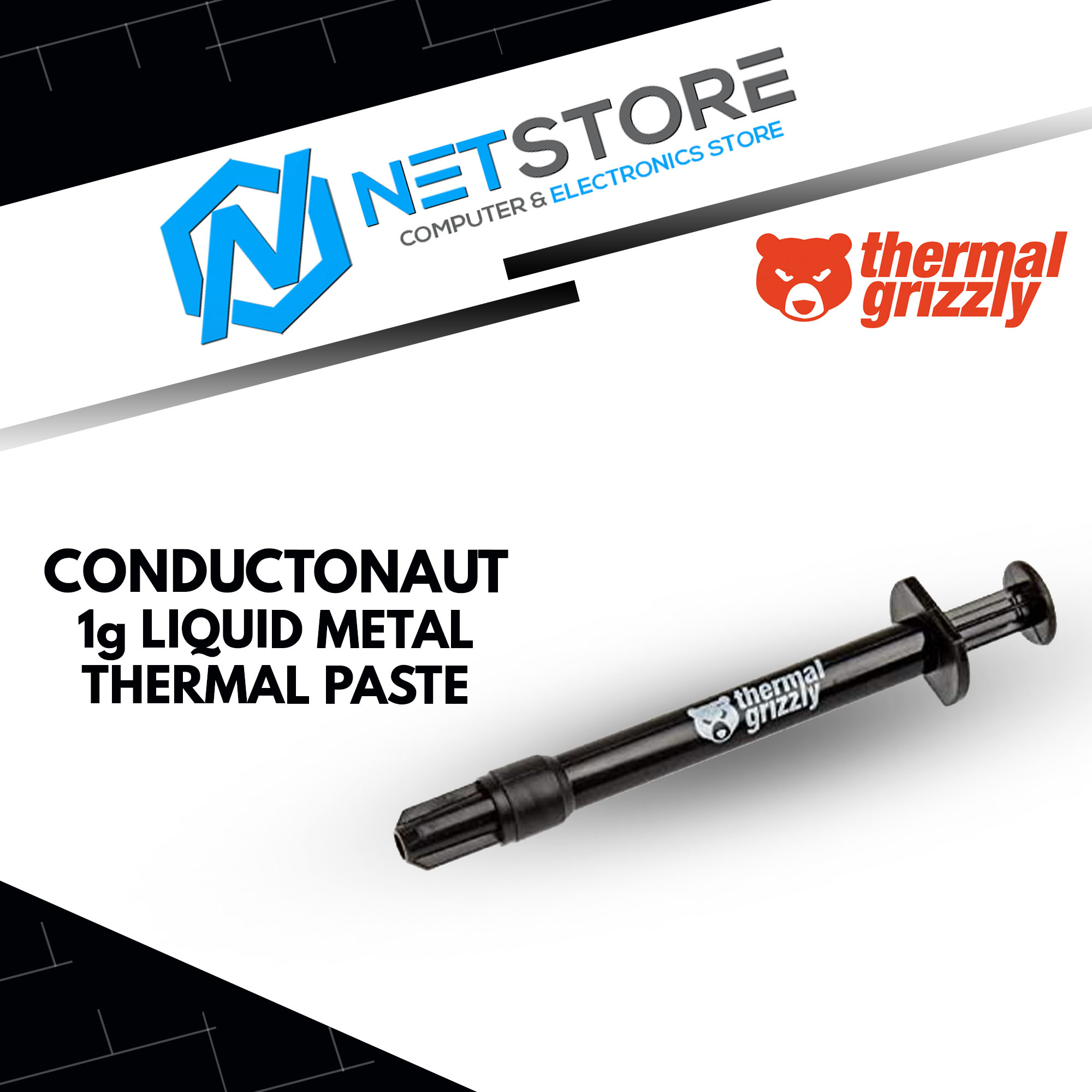 THERMAL GRIZZLY CONDUCTONAUT 1G LIQUID METAL THERMAL PASTE TG-C-001-R