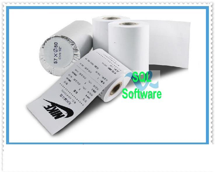 Thermal Receipt Paper For Printer 57*50mm (2 rolls)