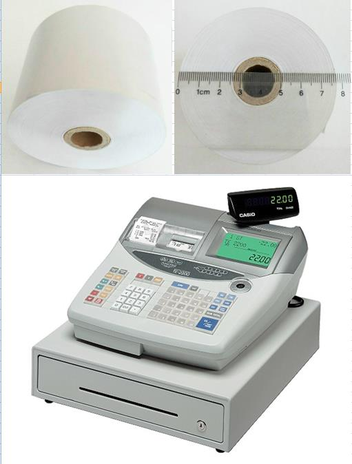 THERMAL RECEIPT ROLL CR TE2200 CASIO 57X77