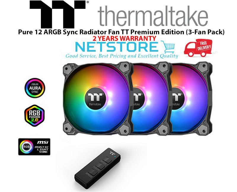 Thermaltake Pure 12 ARGB Sync Radiator Fan TT Premium Edition (3 Pack)