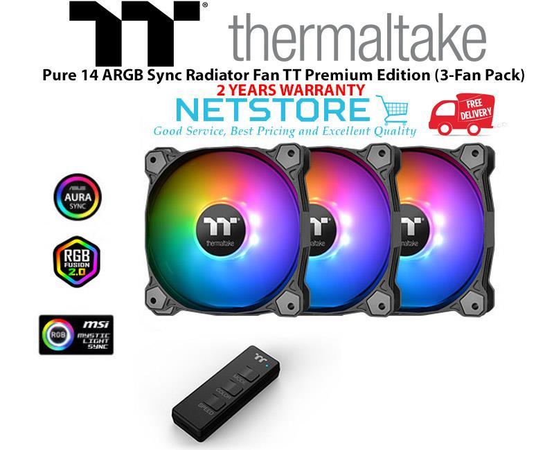 Thermaltake Pure 14 ARGB Sync Radiator Fan TT Premium Edition (3 Pack)