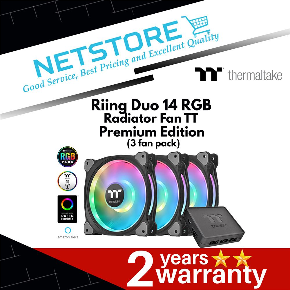 Thermaltake Riing Duo 14 RGB Radiator Fan TT Premium Edition ( 3 Fan )