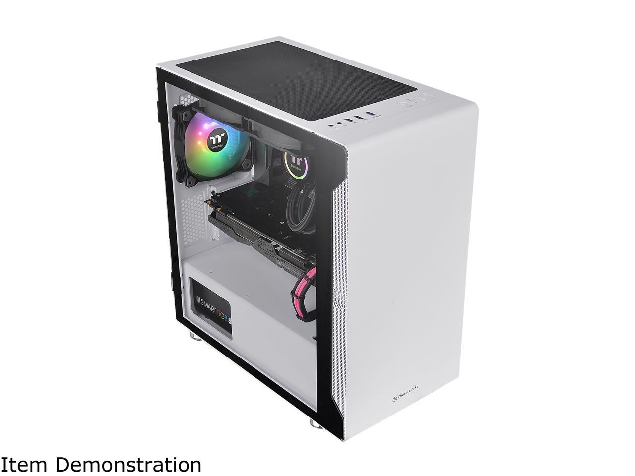 THERMALTAKE S100 TG MICRO TOWER CHASSIS (SNOW) - CA-1Q9-00S6WN-00