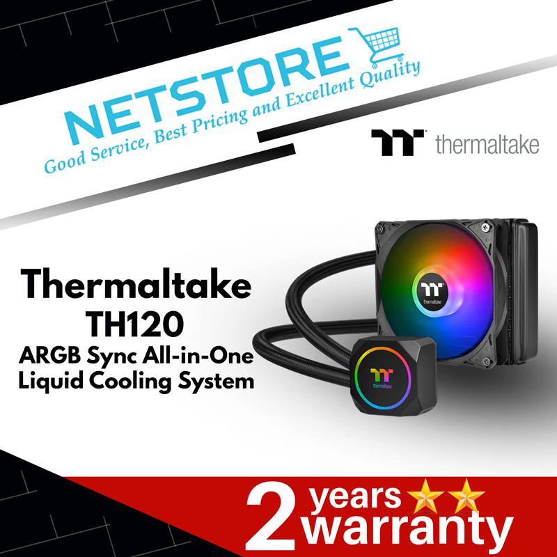 THERMALTAKE TH120 ARGB SYNC LIQUID CPU COOLER - CL-W285-PL12SW-A