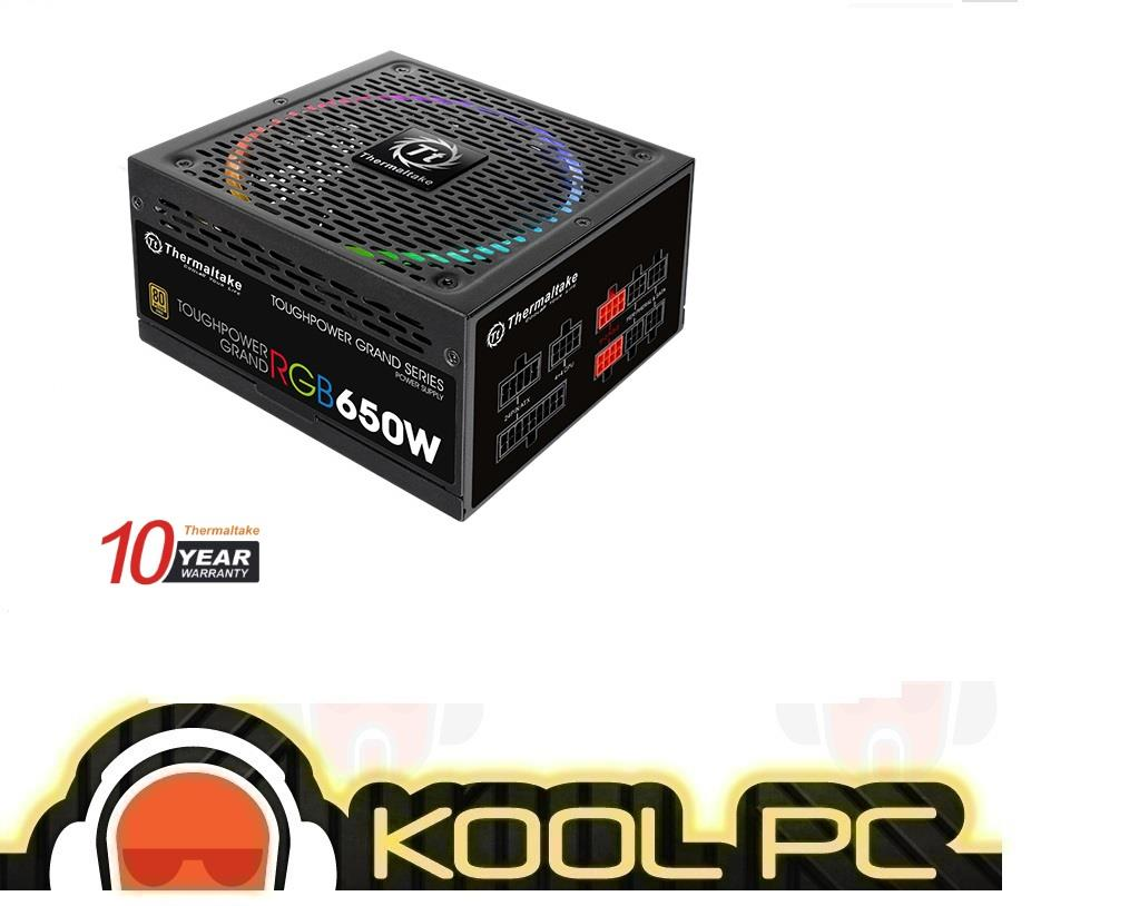 * Thermaltake Toughpower Grand RGB 650W Gold Full Modular Power Supply